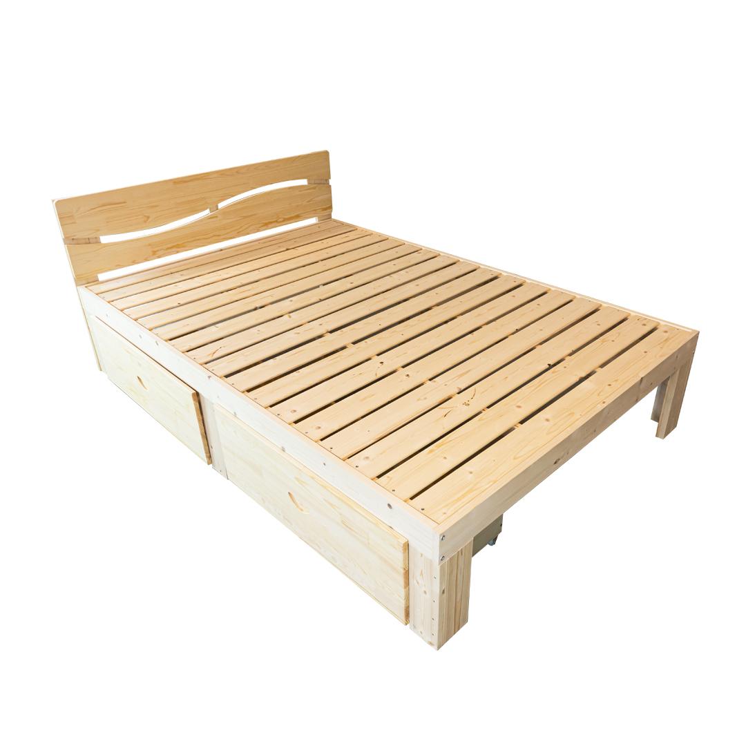 Wooden Bed เตียงนอนไม้ 135x200cm ST0716-14