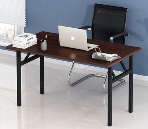 Working Desk โต๊ะทำงาน โต๊ะคอม DIY มีชั้นวางของด้านข้าง 120x60x110cm FNT-01