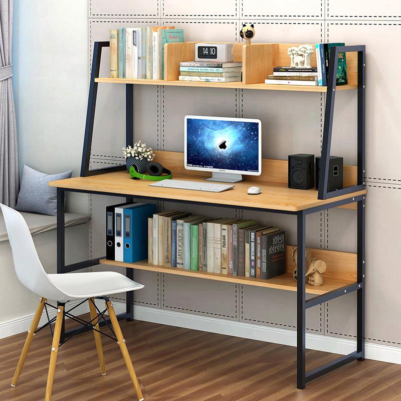 Working Desk โต๊ะทำงาน โต๊ะคอม สไตล์ modern, indy, loft, minimal DIY 100x50x140cm FNT-04
